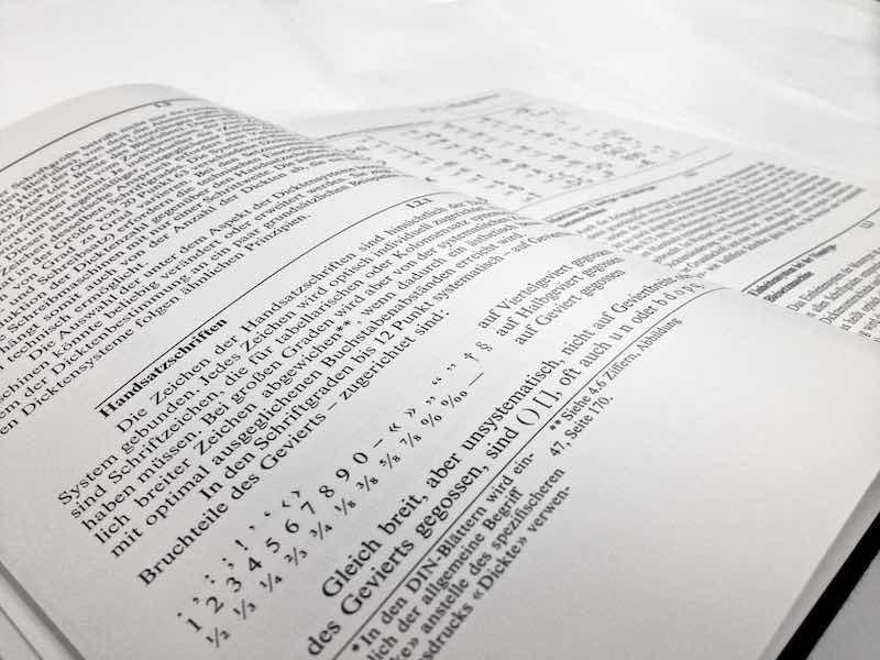 Satzherstellung Technik Detail 1
