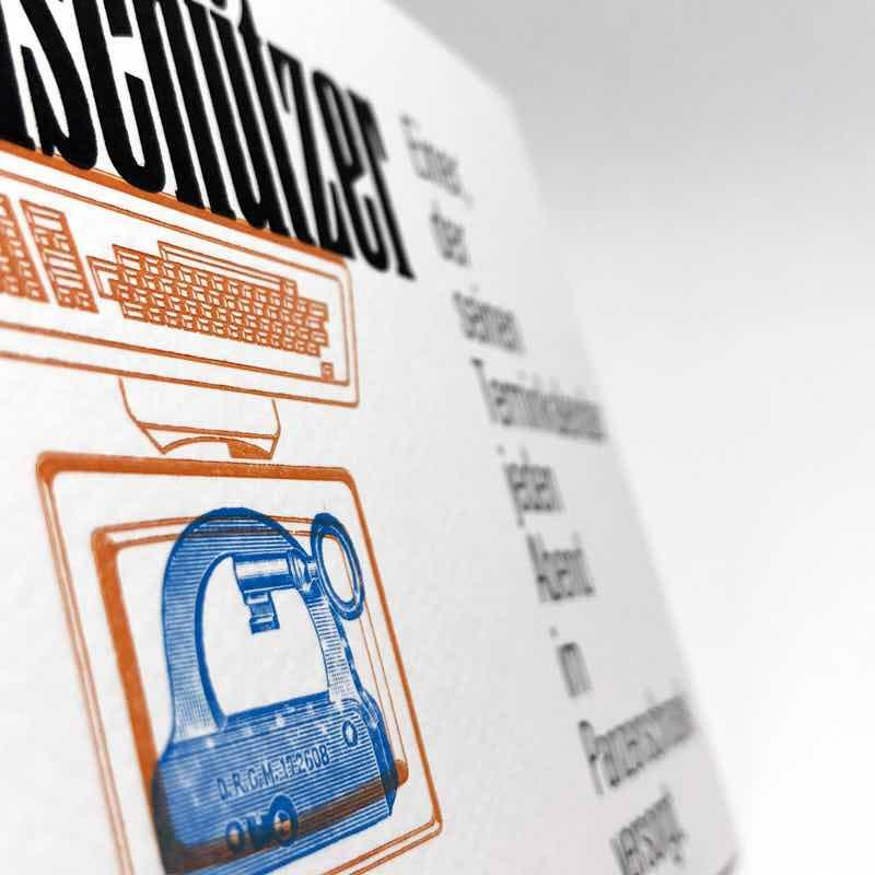 Postkarte Datenschützer Detail